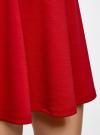 Юбка трикотажная расклешенная oodji #SECTION_NAME# (красный), 14102001B/38261/4500N - вид 5