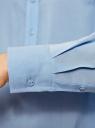 Блузка базовая из вискозы oodji #SECTION_NAME# (синий), 21412129-1/24681/7000N - вид 5