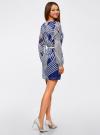 Платье из шифона с ремнем oodji #SECTION_NAME# (синий), 11900150-3/13632/7510O - вид 3