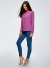 Блузка вискозная базовая oodji #SECTION_NAME# (фиолетовый), 11411135-3B/26346/4C00N - вид 6