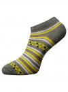 Носки укороченные (комплект из 6 пар) oodji #SECTION_NAME# (разноцветный), 57102462T6/47213/19BFG - вид 3