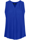 Топ вискозный с V-образным вырезом oodji для женщины (синий), 11411105B/24681/7500N