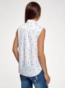 Рубашка прямая без рукавов oodji #SECTION_NAME# (белый), 14911017/49224/126CO - вид 3
