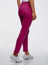 Брюки спортивные с надписью oodji для женщины (розовый), 16701063/48881/4C29P - вид 3