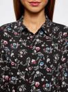 Блузка принтованная из вискозы oodji #SECTION_NAME# (черный), 11411087-1/24681/2945F - вид 4