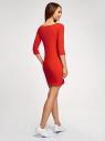Платье трикотажное базовое oodji #SECTION_NAME# (оранжевый), 14001071-2B/46148/4500N - вид 3