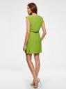 Платье вискозное без рукавов oodji #SECTION_NAME# (зеленый), 11910073B/26346/6B00N - вид 3