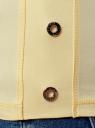 Топ хлопковый с люверсами oodji для женщины (желтый), 14305032-1/46159/5079P