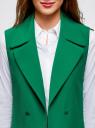 Жилет удлиненный с декоративными пуговицами oodji #SECTION_NAME# (зеленый), 22305001-3/46415/6E00N - вид 4