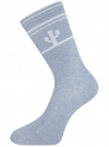 Комплект высоких носков (6 пар) oodji #SECTION_NAME# (разноцветный), 57102902T6/47469/33 - вид 5