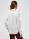 Блузка базовая из вискозы oodji для женщины (белый), 11411136B/26346/1229D