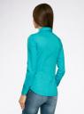 Рубашка базовая с нагрудными карманами oodji #SECTION_NAME# (бирюзовый), 11403222B/42468/7300N - вид 3