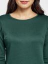 Платье трикотажное с рукавом 3/4 oodji для женщины (зеленый), 24001100-2/42408/6E00N