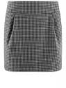Юбка короткая с карманами oodji #SECTION_NAME# (черный), 11605056-2B/22124/2923C