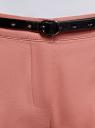 Брюки-чиносы с ремнем oodji #SECTION_NAME# (розовый), 11706190-5B/32887/4B00N - вид 4