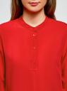 Блузка вискозная А-образного силуэта oodji #SECTION_NAME# (красный), 21411113B/26346/4501N - вид 4