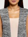 Жилет удлиненный с карманами oodji #SECTION_NAME# (серый), 18905001-1/49083/2912M - вид 4