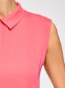 Топ базовый из струящейся ткани oodji для женщины (розовый), 14911006B/43414/4D00N