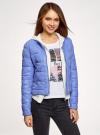 Куртка стеганая с круглым вырезом oodji #SECTION_NAME# (синий), 10203050-2B/47020/7502N - вид 2