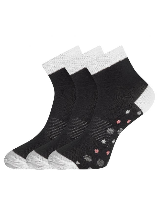 Комплект из трех пар носков oodji для женщины (черный), 57102418-6T3/47469/1