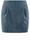 Юбка короткая с карманами oodji #SECTION_NAME# (синий), 11605056-2/22124/7029C - вид 6