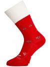 Носки махровые с отворотом oodji #SECTION_NAME# (красный), 57102449-1/46590/4512P - вид 2