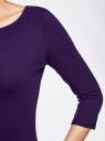 Платье трикотажное базовое oodji #SECTION_NAME# (фиолетовый), 14001071-2B/46148/8800N - вид 5