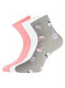 Комплект из трех пар носков oodji для женщины (разноцветный), 57102466T3/47469/18