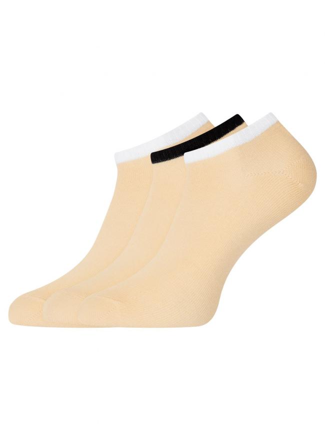 Комплект из трех пар укороченных носков oodji для женщины (разноцветный), 57102433T3/47469/113