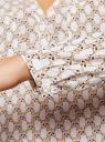Блузка принтованная из вискозы oodji #SECTION_NAME# (белый), 11411049-1/24681/1233K - вид 5
