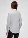 Рубашка хлопковая с нагрудным карманом  oodji для женщины (белый), 13K03013-1/36217/1029D