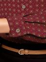 Блузка принтованная из шифона oodji #SECTION_NAME# (красный), 11400394-5/36215/4959G - вид 5