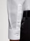 Рубашка приталенная с длинным рукавом oodji для мужчины (белый), 3B110037M/49719N/1000O - вид 5