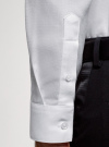 Рубашка приталенная с длинным рукавом oodji #SECTION_NAME# (белый), 3B110037M/49719N/1000O - вид 5