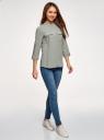 Блузка вискозная с нагрудными карманами oodji #SECTION_NAME# (серый), 11403225-7B/42540/2300N - вид 6