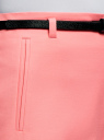 Шорты хлопковые с ремнем oodji для женщины (розовый), 11800038/48229/4100N