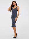 Платье трикотажное на тонких бретелях oodji #SECTION_NAME# (синий), 14015007-1B/45450/7912S - вид 6