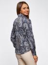 """Рубашка хлопковая с принтом """"пейсли"""" oodji #SECTION_NAME# (синий), 21402212-1/45966/7933E - вид 3"""