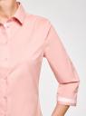 Блузка хлопковая с рукавом 3/4 oodji #SECTION_NAME# (розовый), 13K03005B/26357/4000B - вид 5