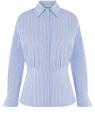 Рубашка приталенного силуэта oodji для женщины (синий), 13K00009/45202/7010S