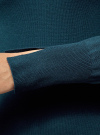 Платье вязаное базовое oodji #SECTION_NAME# (синий), 73912217-2B/33506/7400N - вид 5