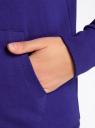 Толстовка с капюшоном и карманами oodji #SECTION_NAME# (синий), 16901079-2B/46934/7501N - вид 5