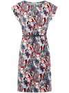 Платье трикотажное с ремнем oodji #SECTION_NAME# (разноцветный), 24008033-2/16300/4512F