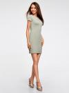 Платье из фактурной ткани с вырезом-лодочкой oodji #SECTION_NAME# (зеленый), 14001117-12B/42588/6000N - вид 6