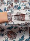 Блузка принтованная из вискозы oodji #SECTION_NAME# (белый), 11411049-1/24681/1273F - вид 5