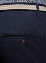 Брюки-чиносы с плетеным ремнем oodji для мужчины (синий), 2L150142M/48236N/7800N