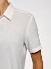 Блузка вискозная с короткими рукавами oodji #SECTION_NAME# (белый), 11411137-4B/42540/1200N - вид 5