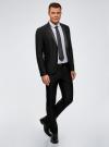Пиджак приталенный с атласными лацканами oodji для мужчины (черный), 2L420212M/47307N/2900N - вид 6