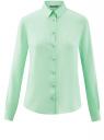 Блузка базовая из вискозы oodji #SECTION_NAME# (зеленый), 11411136B/26346/6501N