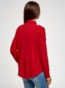 Блузка базовая из вискозы с нагрудными карманами oodji #SECTION_NAME# (красный), 11411127B/26346/4500N - вид 3